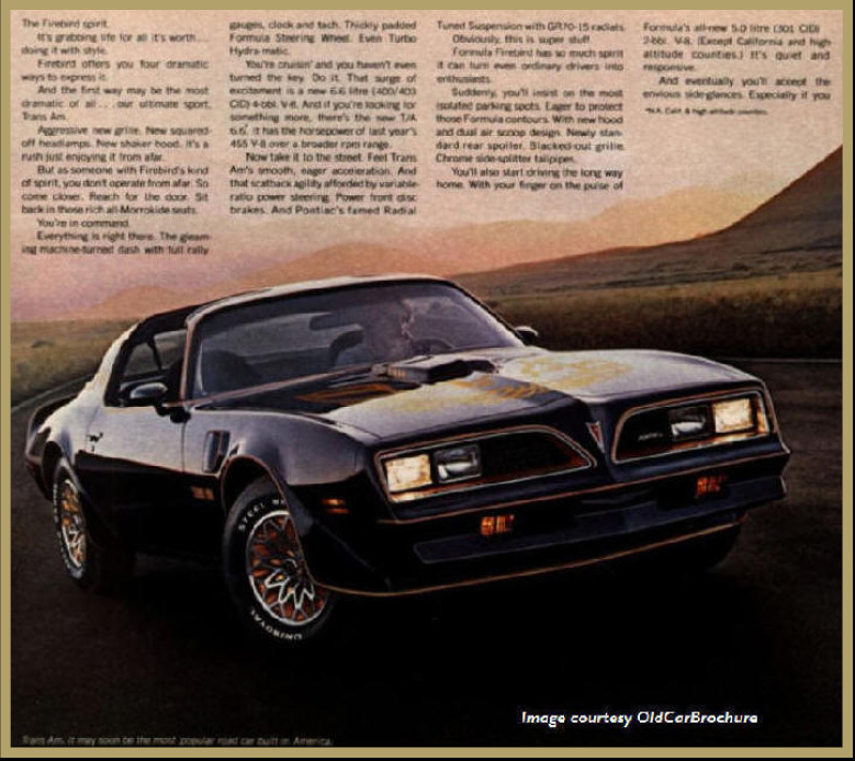 Pontiac's Official Promotional Brochure Car - Trans Am